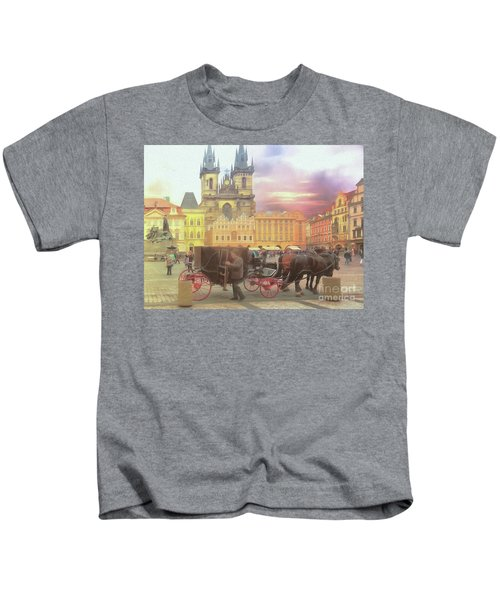 Prague Old Town Square Kids T-Shirt
