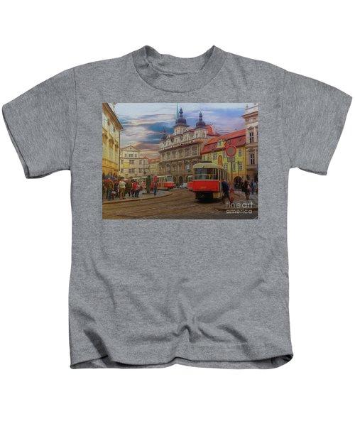 Prague, Old Town, Street Scene Kids T-Shirt
