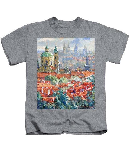 Prague Summer Panorama 1 Kids T-Shirt