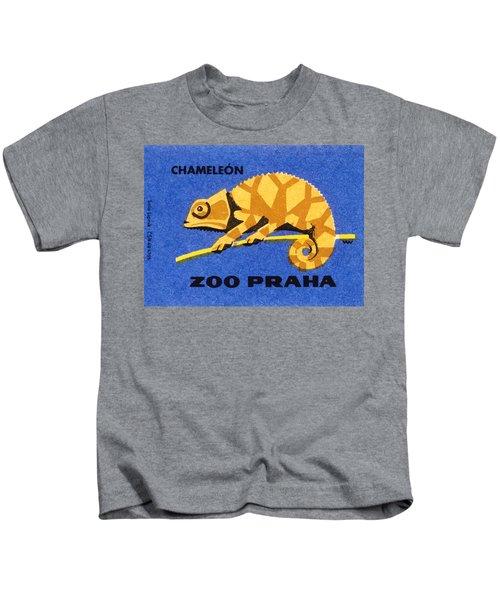 Prague Zoo Chameleon Matchbox Label Kids T-Shirt