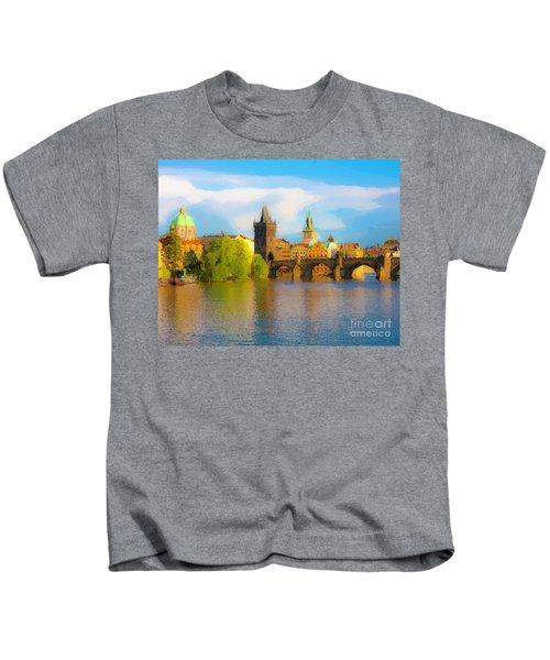 Praha - Prague - Illusions Kids T-Shirt