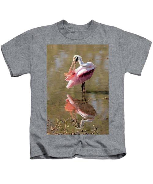 Preening Spoonbill Kids T-Shirt