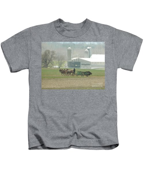 Preparing The Field-two Kids T-Shirt