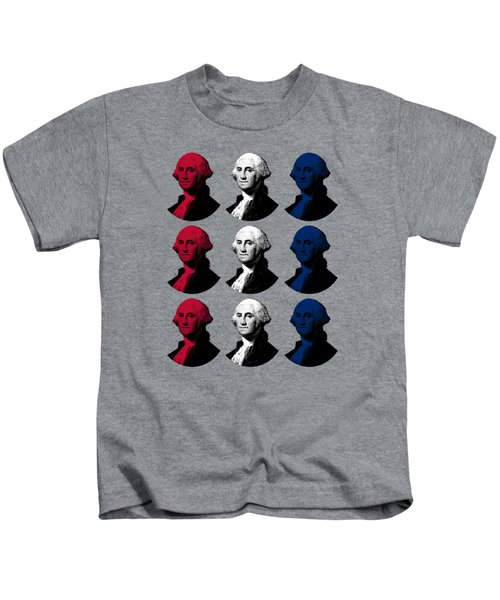 President George Washington - Red, White, And Blue  Kids T-Shirt