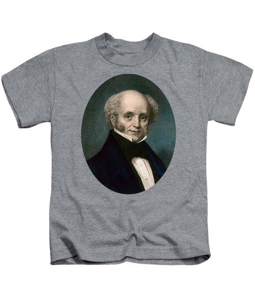 President Martin Van Buren - Vintage Color Portrait Kids T-Shirt