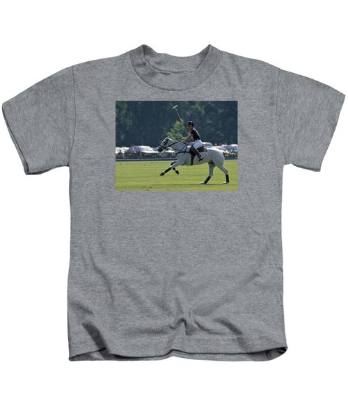 Prince Charles Playing Polo At Windsor Kids T-Shirt