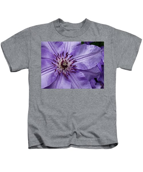 Purple Clematis Blossom Kids T-Shirt