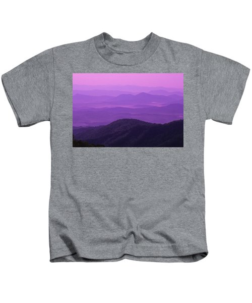 Purple Mountains Kids T-Shirt