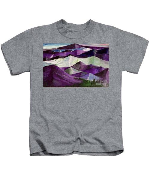Purple Mountains Majesty Kids T-Shirt