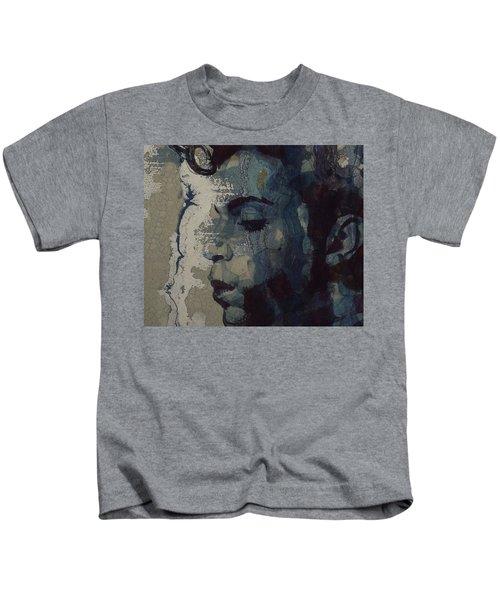 Purple Rain - Prince Kids T-Shirt by Paul Lovering