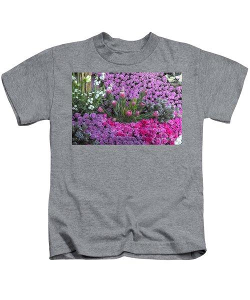 Purple Roses, Pinks And White Kids T-Shirt