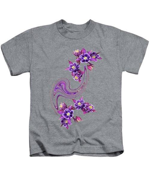 Purple Velvet Kids T-Shirt