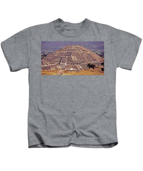 Pyramid Of The Sun - Teotihuacan Kids T-Shirt