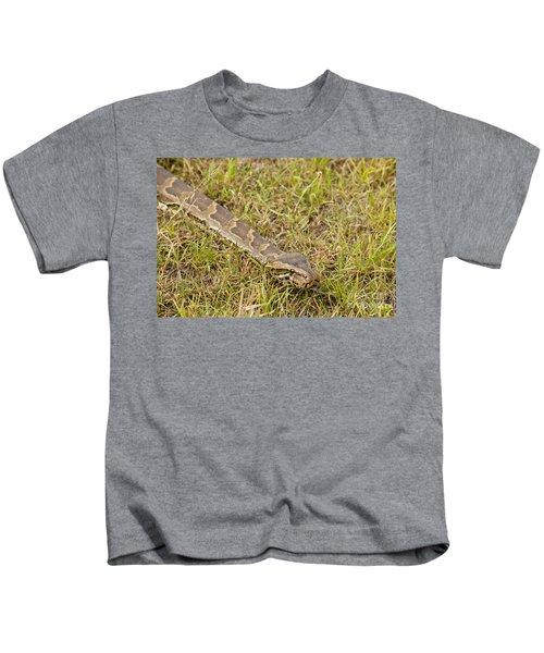 Python In Grass, Kenya Kids T-Shirt