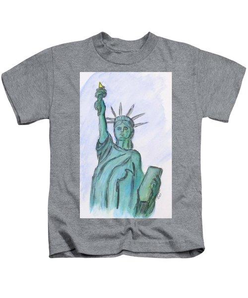 Queen Of Liberty Kids T-Shirt