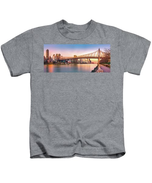 Queensboro Bridge At Sunset Kids T-Shirt