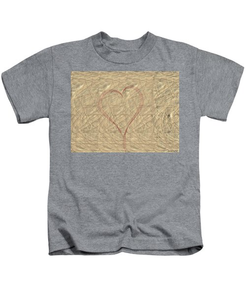 Kids T-Shirt featuring the painting Tranquil Heart by Marian Palucci-Lonzetta