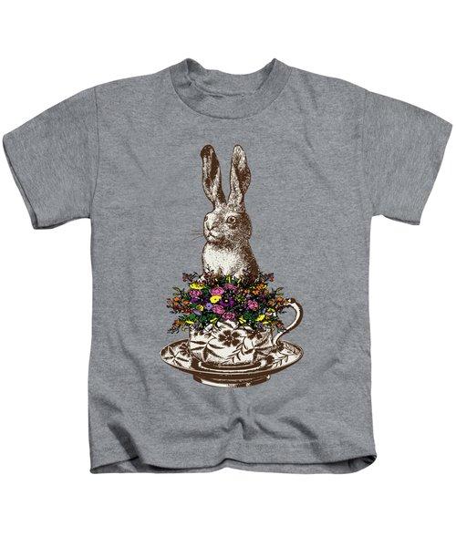 Rabbit In A Teacup Kids T-Shirt