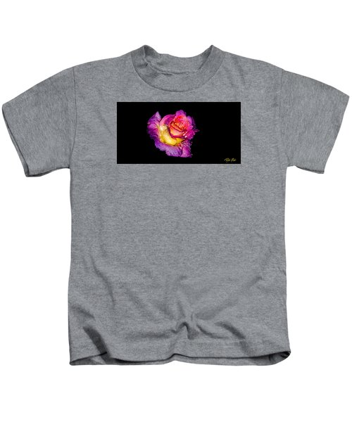 Rain-melted Rose Kids T-Shirt