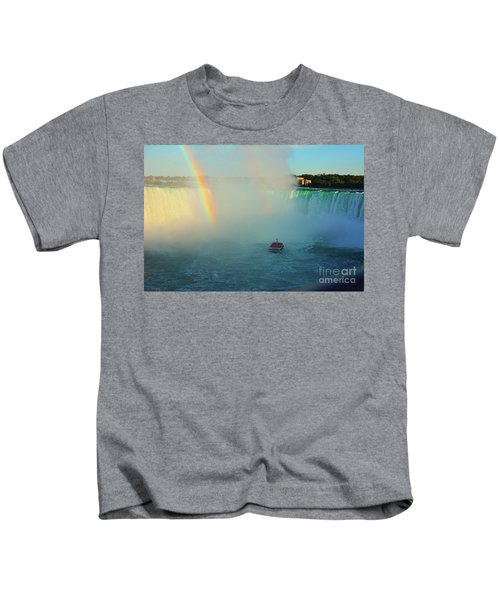 Rainbow At Horseshoe Falls Kids T-Shirt