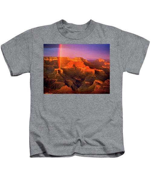 Rainbow At The Grand Canyon Kids T-Shirt