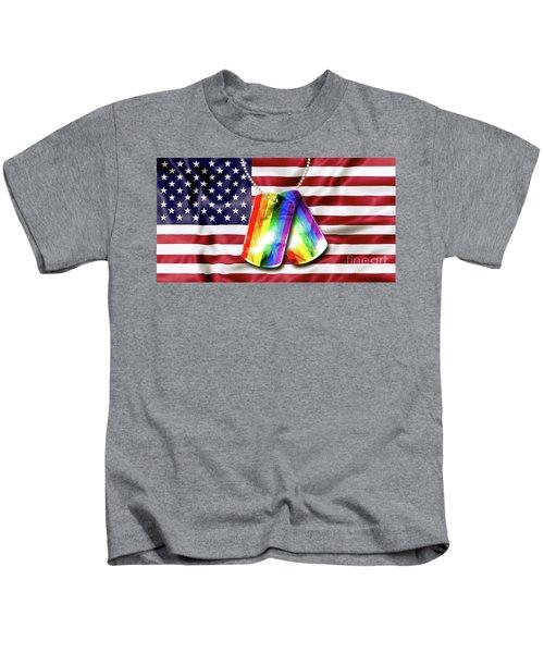 Rainbow Dog Tags Kids T-Shirt