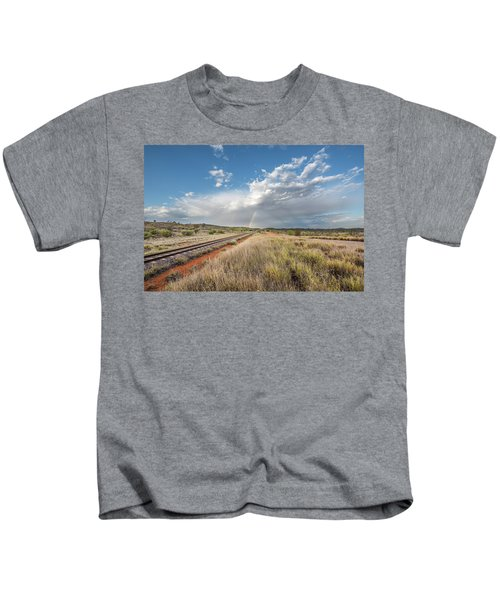 Rainbows Over Ghan Tracks Kids T-Shirt