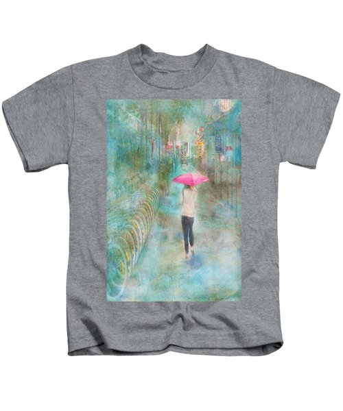 Rainy In Paris 3 Kids T-Shirt