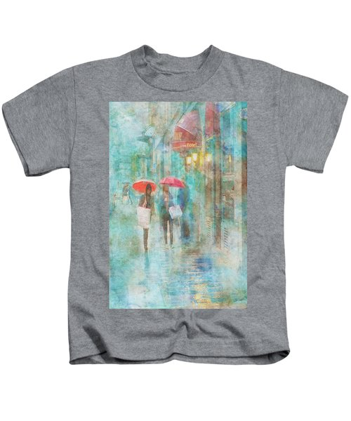 Rainy In Paris 4 Kids T-Shirt