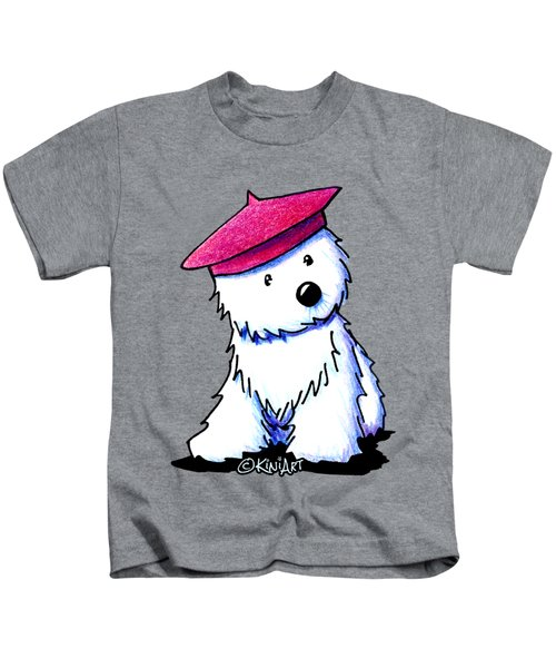 Raspberry Beret Westie Kids T-Shirt