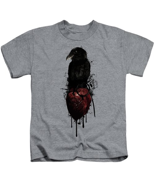 Raven And Heart Grenade Kids T-Shirt