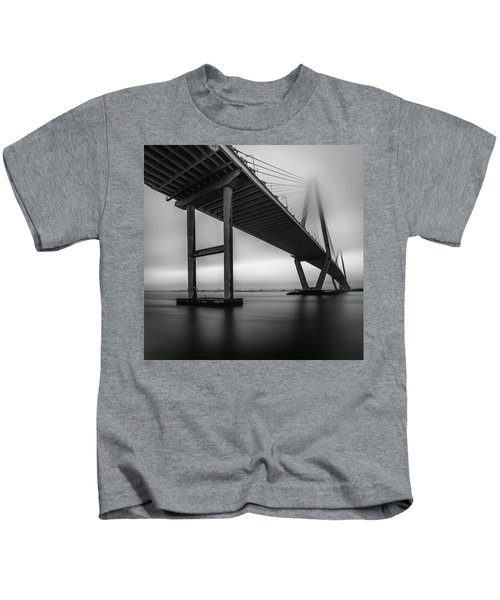 Ravenel Bridge November Fog Kids T-Shirt