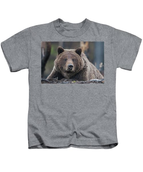 Raw, Rugged And Wild- Grizzly Kids T-Shirt