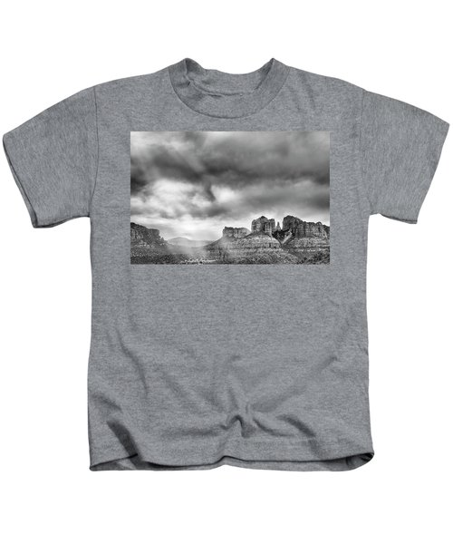 Ray Over Bell Rock Kids T-Shirt