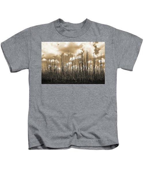 Reaching To The Sky Kids T-Shirt