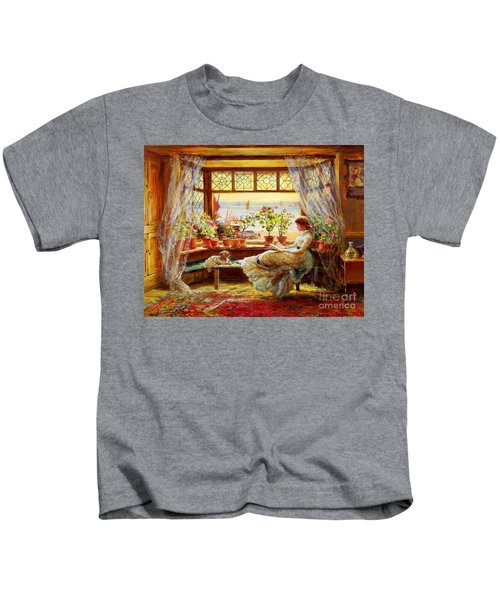 Reading By The Window Kids T-Shirt