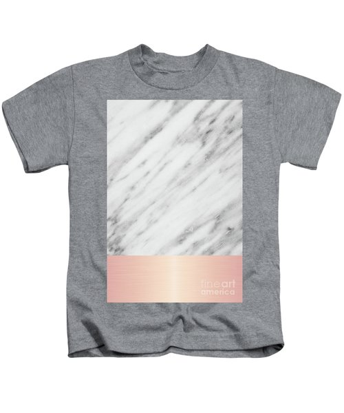 Real Italian Marble And Pink Kids T-Shirt