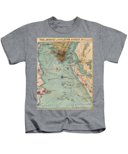Rebel Defenses Of Charleston Harbor Kids T-Shirt