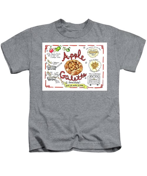 Recipe- Apple Galette Kids T-Shirt
