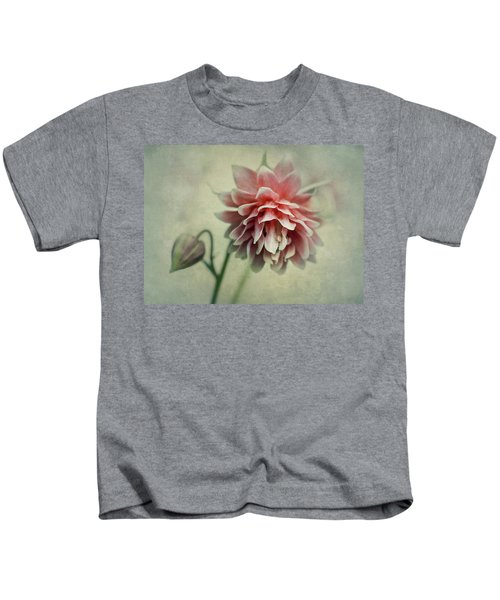 Red And Pink Columbine Kids T-Shirt