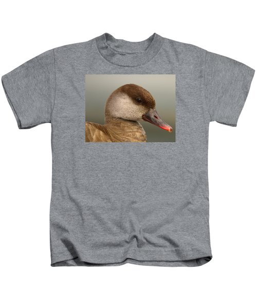 Red-crested Female Pochard Duck, Netta Rufina Kids T-Shirt