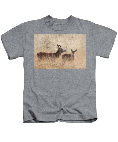 Red Deer Stag And Hind Kids T-Shirt