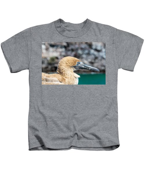 Red Footed Booby Juvenile Kids T-Shirt by Jess Kraft