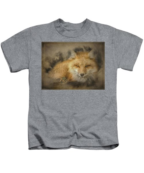 Red Fox Resting Kids T-Shirt