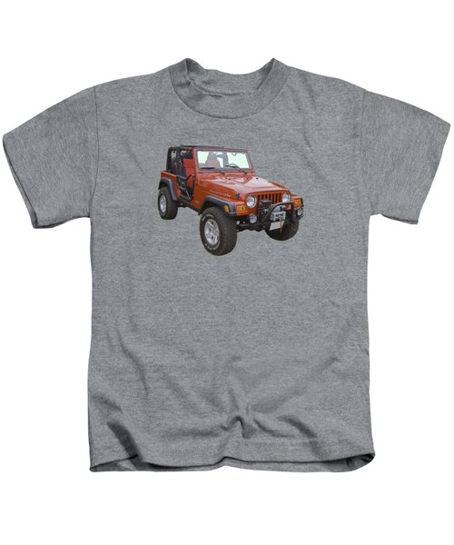 Red Jeep Wrangler Rubicon Kids T-Shirt