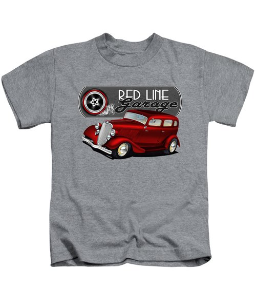 Red Line Sedan Kids T-Shirt