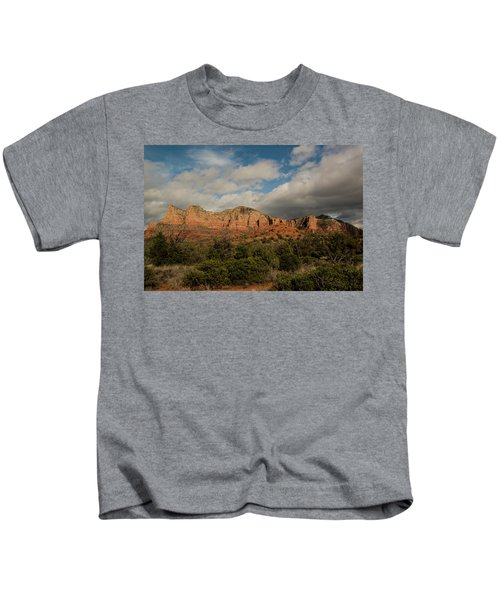 Red Rock Country Sedona Arizona 3 Kids T-Shirt by David Haskett