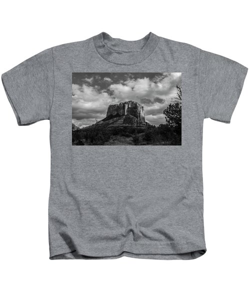 Red Rocks Sedona Bnw 1 Kids T-Shirt by David Haskett