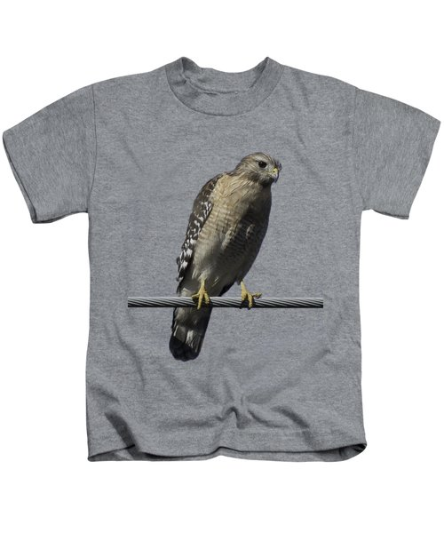 Red-shouldered Hawk Transparency Kids T-Shirt
