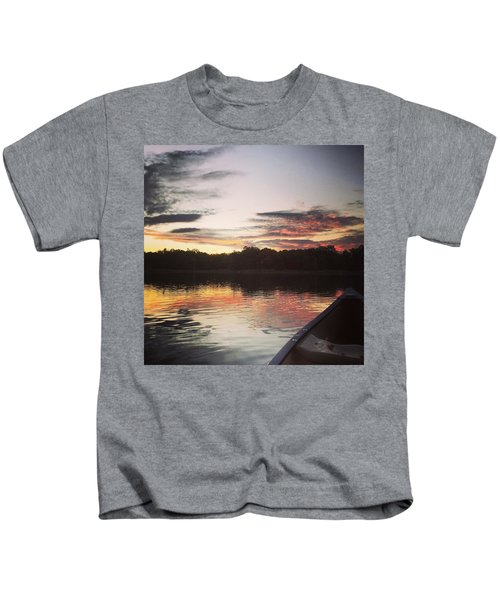 Red Spotted Sunset Kids T-Shirt